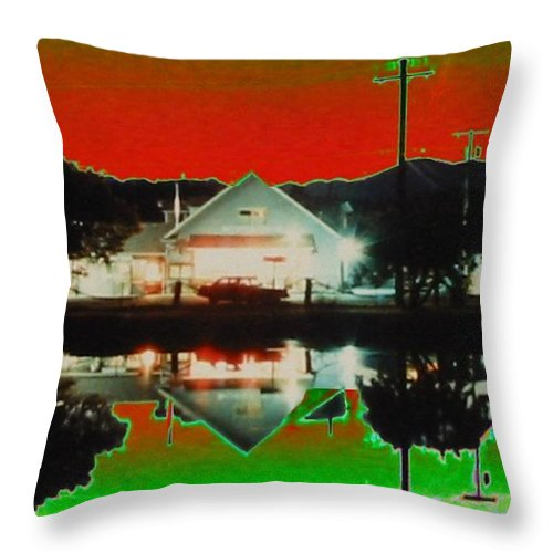 Seabeck Throw Pillow featuring the photograph Seabeck General Store by Tim Allen