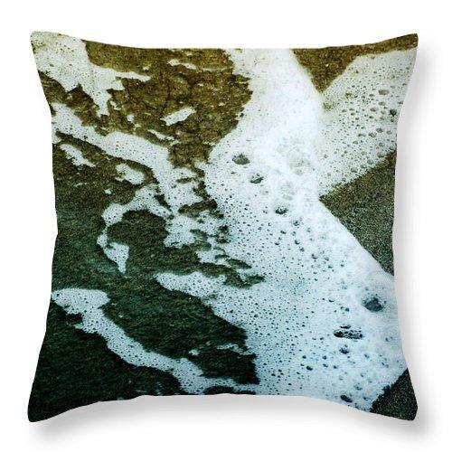 Water Throw Pillow featuring the photograph Seafoam by Ellen Heaverlo