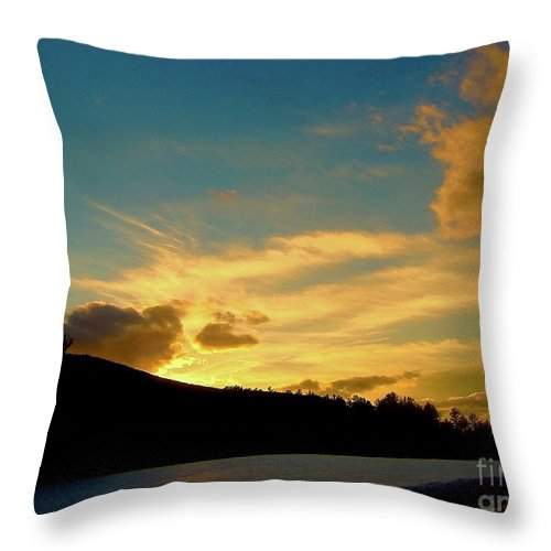 Sunset Throw Pillow featuring the photograph Searching My Soul by Elizabeth Tillar