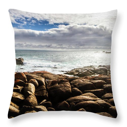 Water Throw Pillow featuring the photograph Seascape In Harmony by Jorgo Photography - Wall Art Gallery