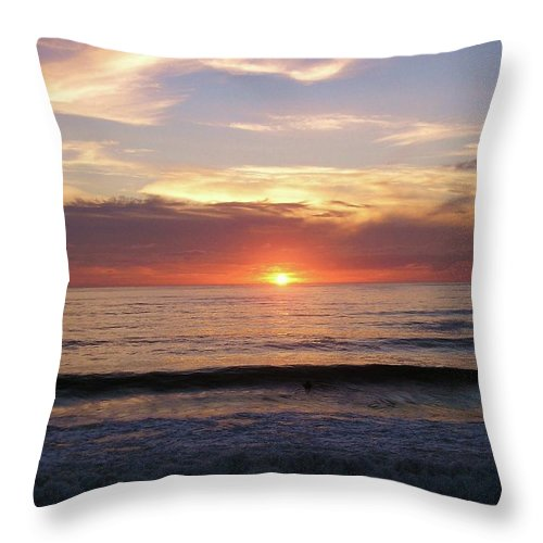 Strandhill Throw Pillow featuring the photograph Seascape by Louise Macarthur Art and Photography