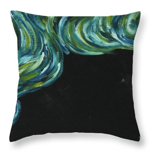 Art Throw Pillow featuring the painting Seaside Dreams 1 by Nour Refaat