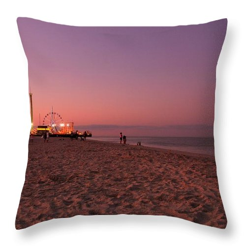 Jersey Shore Throw Pillow featuring the photograph Seaside Park I - Jersey Shore by Angie Tirado