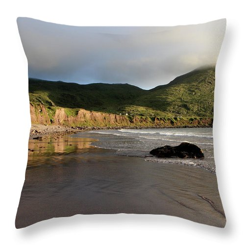 Ireland Throw Pillow featuring the photograph Seaside Reflections, County Kerry, Ireland by Aidan Moran