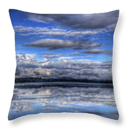 Landscape Throw Pillow featuring the photograph Seasons Panorama by Lee Santa