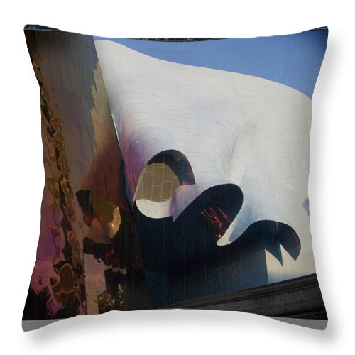 Seattle Throw Pillow featuring the photograph Seattle Center Experience Music Project by Jeffery Ball