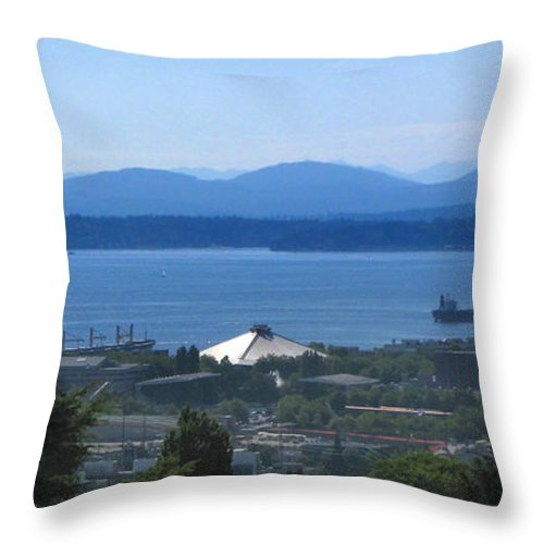 Seattle Throw Pillow featuring the photograph Seattle From Above by Jeffery Ball