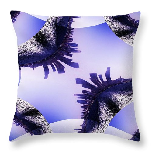 Seattle Throw Pillow featuring the photograph Seattle In The Wake by Tim Allen