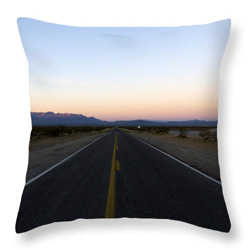 Road Throw Pillow featuring the photograph Secluded Sunrise by Kelvin Booker