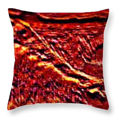 Landscape Throw Pillow featuring the digital art Seclusively Red Is The South Rim by Brenda L Spencer