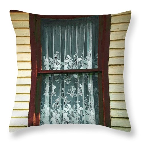 Autumn Throw Pillow featuring the painting Second Story Sunset by RC DeWinter