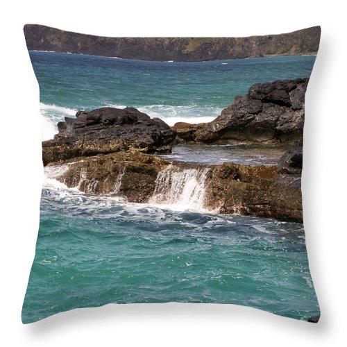Beach Throw Pillow featuring the photograph Secret Beach by Amy Fose