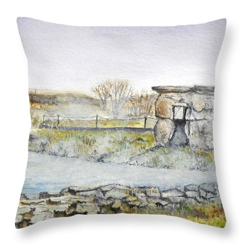 Peaceful Throw Pillow featuring the painting Secret Lagoon by Lisa Cini