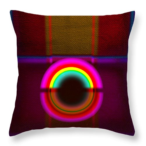Portal Throw Pillow featuring the painting Section by Charles Stuart