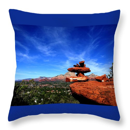 Photograph Throw Pillow featuring the photograph Sedona Airport Vortex by The Art With A Heart By Charlotte Phillips
