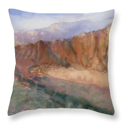 Sedopn Throw Pillow featuring the painting Sedona by Ann Cockerill