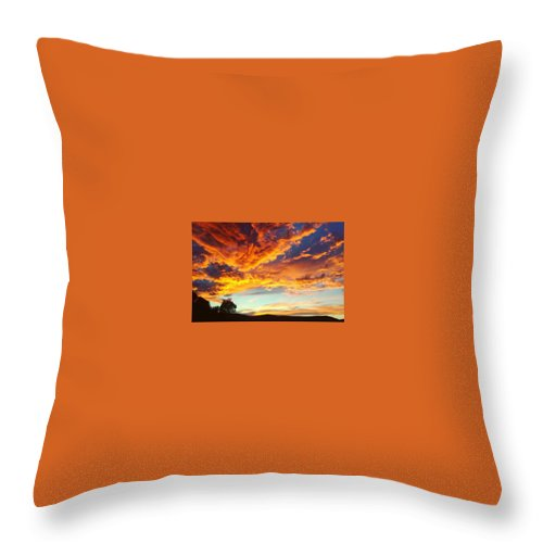 Life Throw Pillow featuring the digital art Sedona by Kristina Gerth