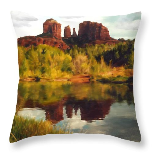Sedona Throw Pillow featuring the photograph Sedona by Kurt Van Wagner