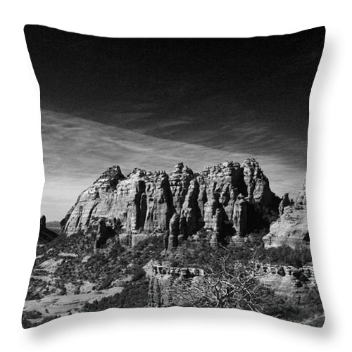 Sedona Throw Pillow featuring the photograph Sedona Reversed by Randy Oberg