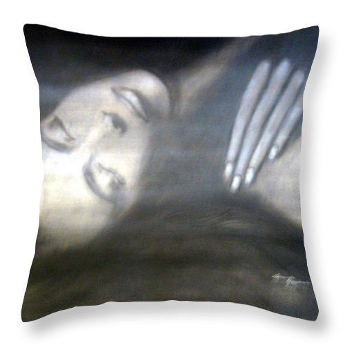 People Throw Pillow featuring the painting Seductive Dream by Leonardo Ruggieri