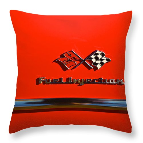 See The U.s.a. In Your Chevrolet Throw Pillow featuring the photograph See The U.s.a. In Your Chevrolet 3 by MingTa Li