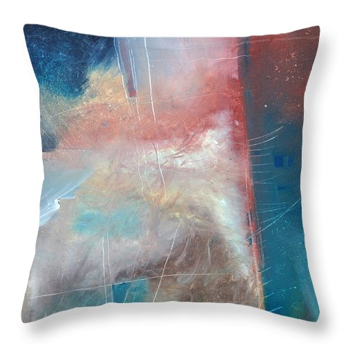 Brown Throw Pillow featuring the painting See What Brown Can Do For You by Tim Nyberg