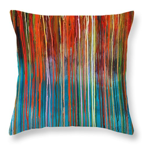 Fusionart Throw Pillow featuring the painting Seed by Ralph White