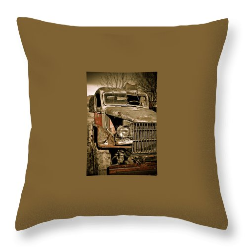 Old Throw Pillow featuring the photograph Seen Better Days by Marilyn Hunt