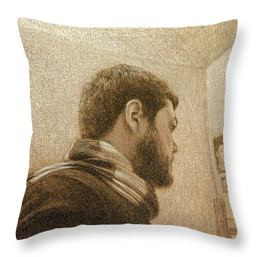 Throw Pillow featuring the painting Self by Joe Velez