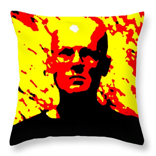 Square Throw Pillow featuring the digital art Self Portrait 2000 by Eikoni Images