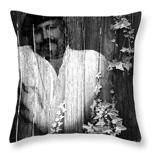 Clay Throw Pillow featuring the photograph Self Portrait by Clayton Bruster