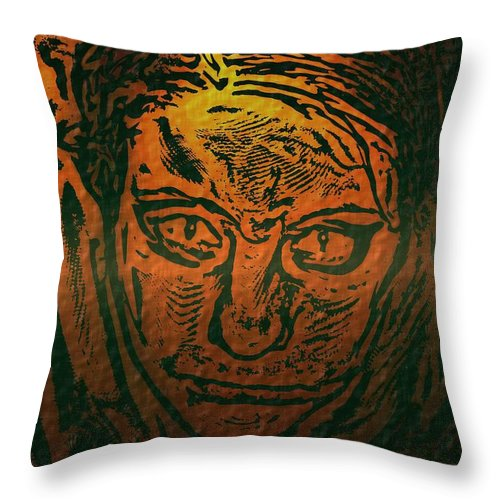 People Throw Pillow featuring the photograph Self Portrait by Crystal Webb