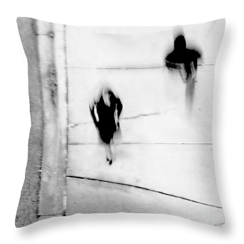 Black Throw Pillow featuring the photograph Self-Protection - If You Look Me In The Eye Will You See Me by Dana DiPasquale