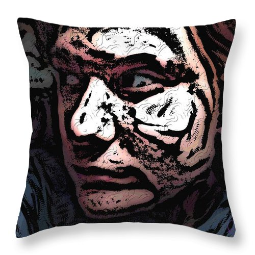 Portrait Throw Pillow featuring the photograph Self Worth by Crystal Webb