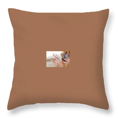Bulk Sms Api Throw Pillow featuring the digital art Send SMS using PHP SMS API by Natasha Williams