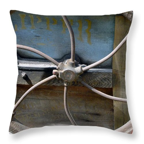 Agriculture Throw Pillow featuring the digital art Sending To The War by RC DeWinter