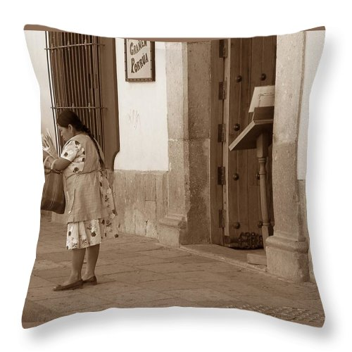 Charity Throw Pillow featuring the photograph Senora by Mary-Lee Sanders