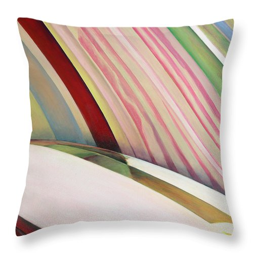 Abstract Throw Pillow featuring the painting Sens 1 by Muriel Dolemieux