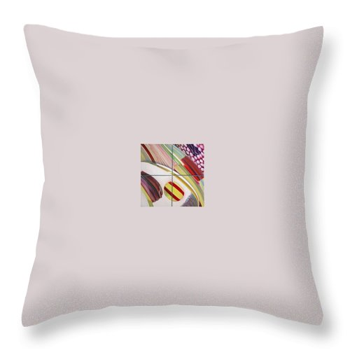 Abstract Throw Pillow featuring the painting Sens by Muriel Dolemieux