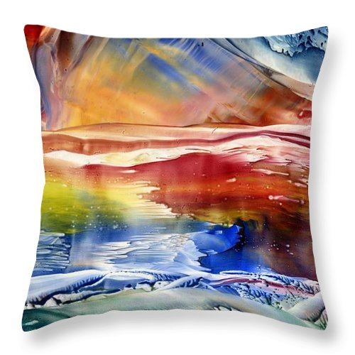 Colors Throw Pillow featuring the painting Sensations by Eileen Fong