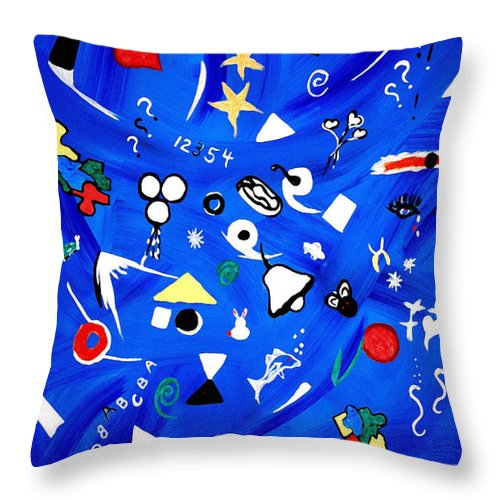 Expressionism Throw Pillow featuring the painting Sensory Chaos - Autism by Donna Proctor