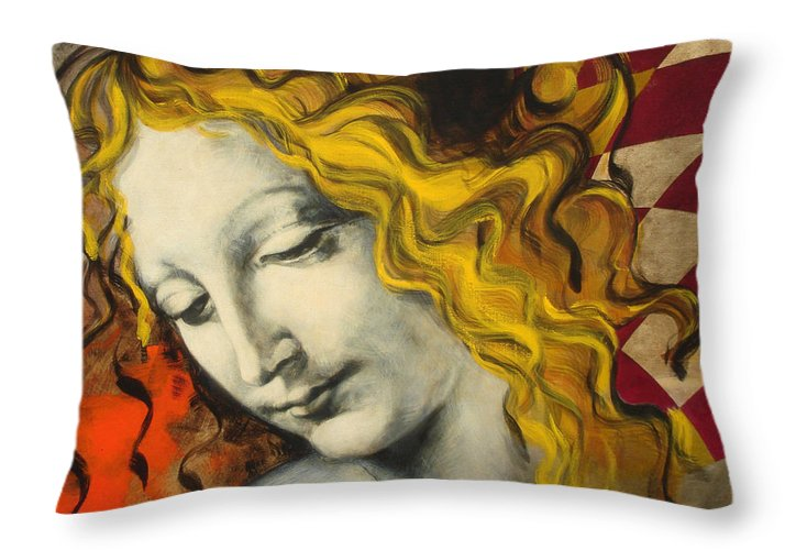 Classical Throw Pillow featuring the painting Sensuali by Jean Pierre Rousselet