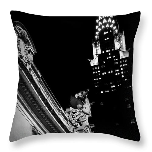 Grand Central Throw Pillow featuring the photograph Sentinel For Grand Central by James Aiken