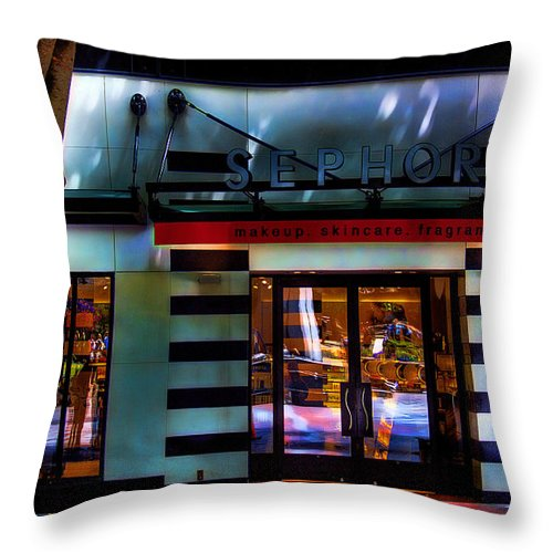 Sephora Throw Pillow featuring the photograph Sephora by David Patterson