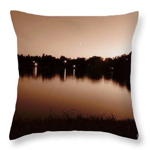 Sunset Throw Pillow featuring the photograph Sepia Sunset by September Stone