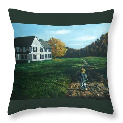 Pennsylvania Throw Pillow featuring the painting September Breeze Number 4 by Christopher Shellhammer