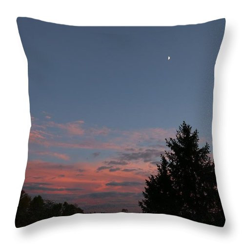 Night Throw Pillow featuring the photograph September Evening by Jeff Roney
