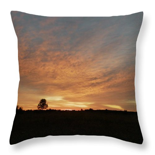 Sunrise Throw Pillow featuring the photograph September Morning by Peggy King