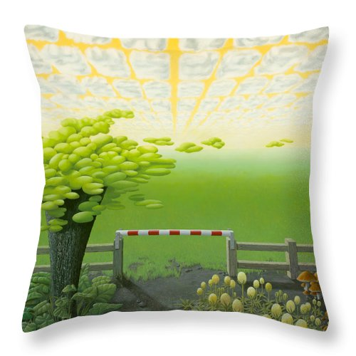 Tree Throw Pillow featuring the painting September by Patricia Van Lubeck