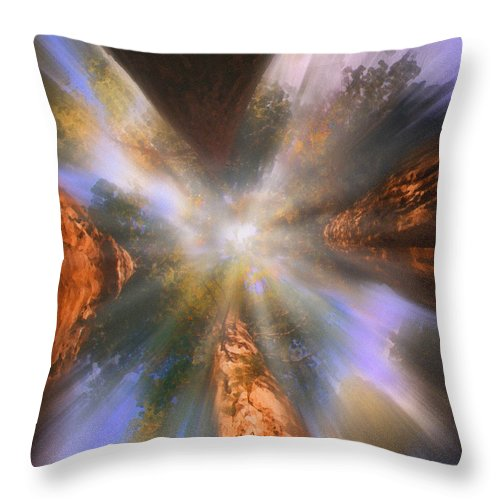Sequoia Throw Pillow featuring the painting Sequoia by Robby Donaghey